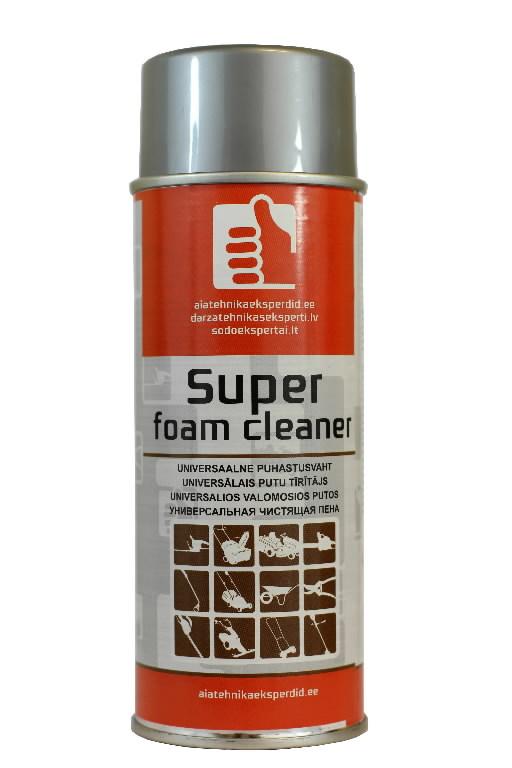 Universaalne puhastusvaht SUPER FOAM CLEANER 400ml aerosool, Aiatehnikaeksperdid