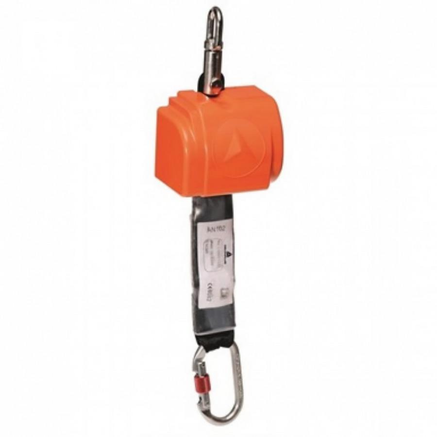 Self-retractable fall arrest equipment, 2,5 m, 1 karabiner, Venitex