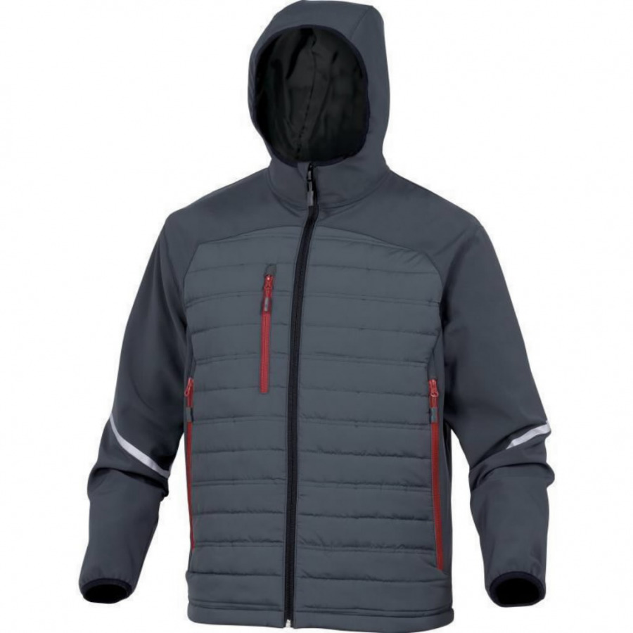 Striukė-Softshell su gobtuvu Motion, pilka, 3XL, Delta Plus