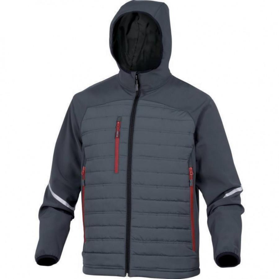 Jacket-Softshell  hood Motion, grey, XL, Venitex