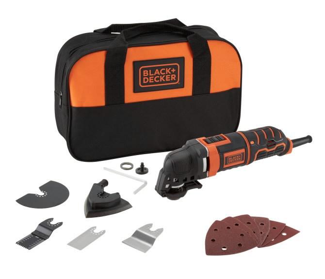 Daugiafunkcis elektrinis įrankis MT300SA2+11 priedų, krepšys, Black+Decker