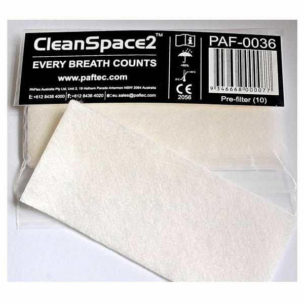 CleanSpace2™ eelfilter pakis 10tk 304640, Paftec