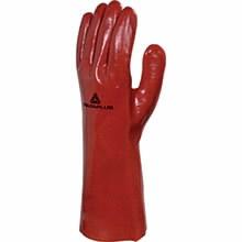 Töökindad PVC pikkus 35cm punane suurus 10, Delta Plus