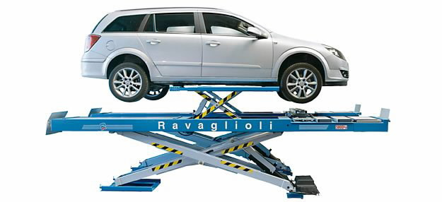 Scissor lift alignment + wheels free 5T, , Ravaglioli