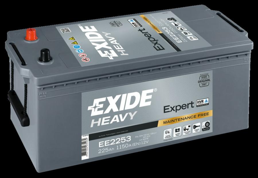 Akumuliatorius EXPERT 225Ah1150A518x279x240+-, Exide