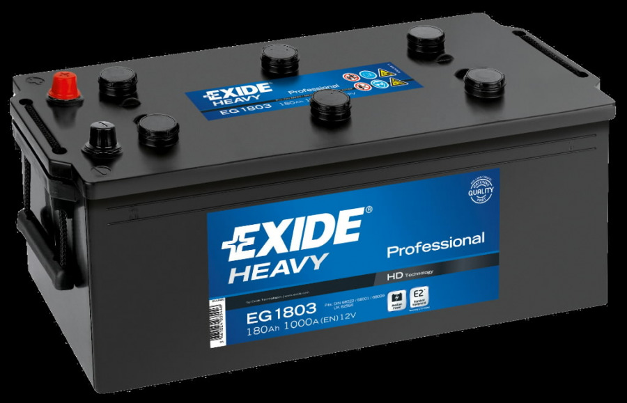 Heavy Duty Professional käivitusaku  180Ah 1000A S106-EG1803, Exide