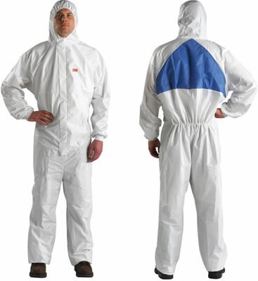 protective overall, white 3XL, 3M