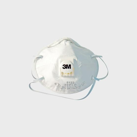 Respiratorius su iškvėpimo vožtuvu 8122 FFP2 NR D UU001643624, 3M
