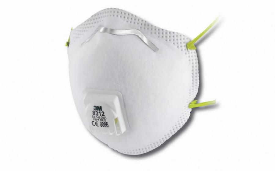 Respiratorius T8312 FFP1 su iškvėpimo vožtuvu, 3M