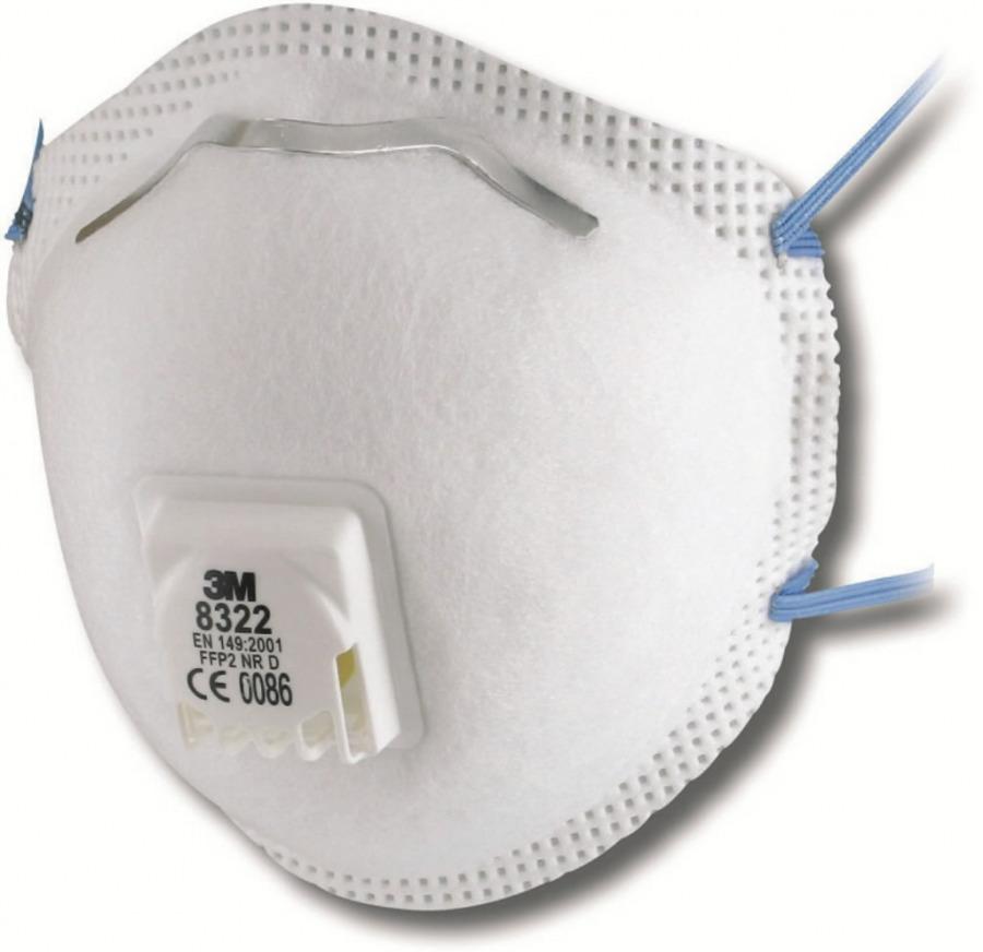 Respiratorius FFP2 su iškvėpimo vožtuvu, 3M
