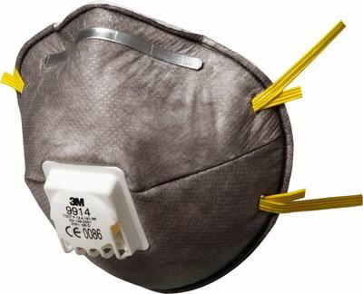 Tolmurespiraator klapiga FFP1 - orgaanilised aurud, 3M
