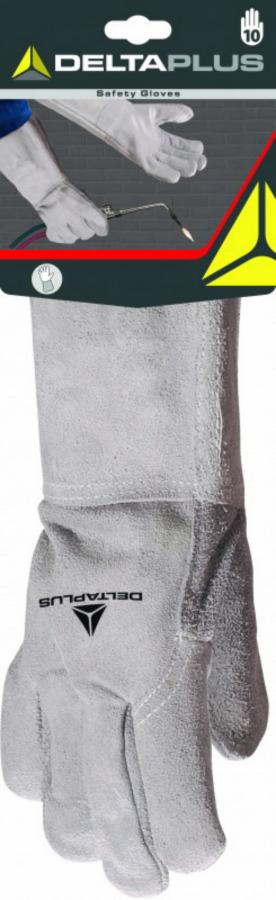 Kindad, keevitajale looma alusnahast, 15 cm varrukas, 10, Delta Plus