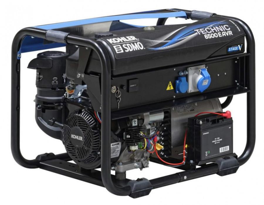 Generatorius TECHNIC 6500 E AVR+modys+verso 50M 40A, SDMO