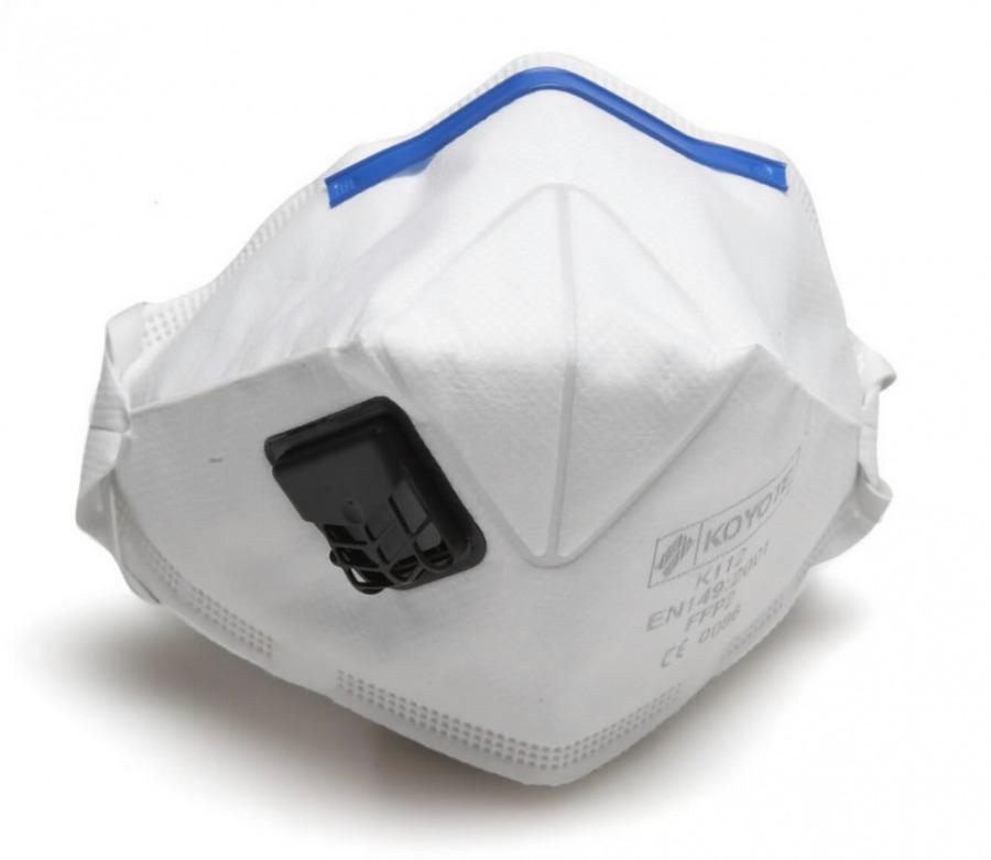 Tolmumask FFP2 klapiga (respiraator),  100-seeria, 3M