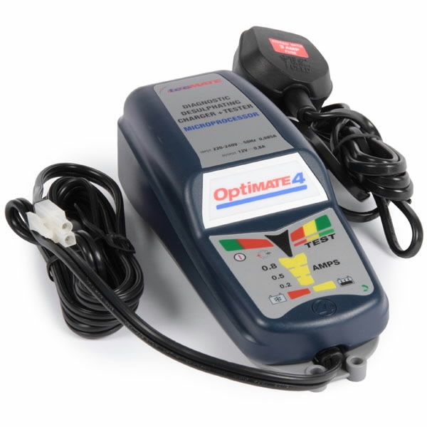 Akulaadija/säilitaja OptiMATE4, 12V 2 kuni 50Ah akudele, TECMATE