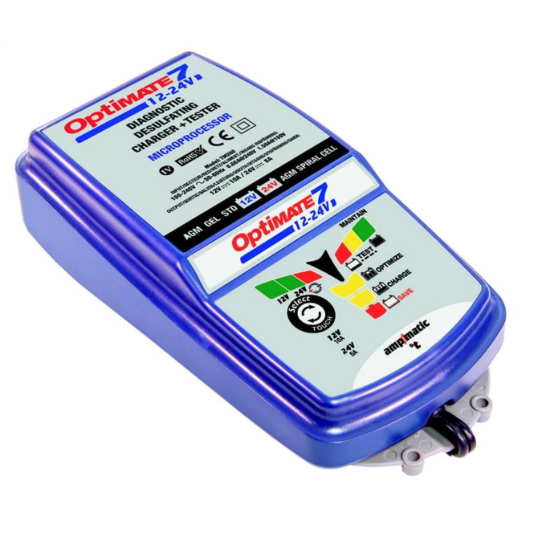 Battery optimiser OptiMATE7 12V-24V 3 - 240Ah 24v -120Ah, Tecmate