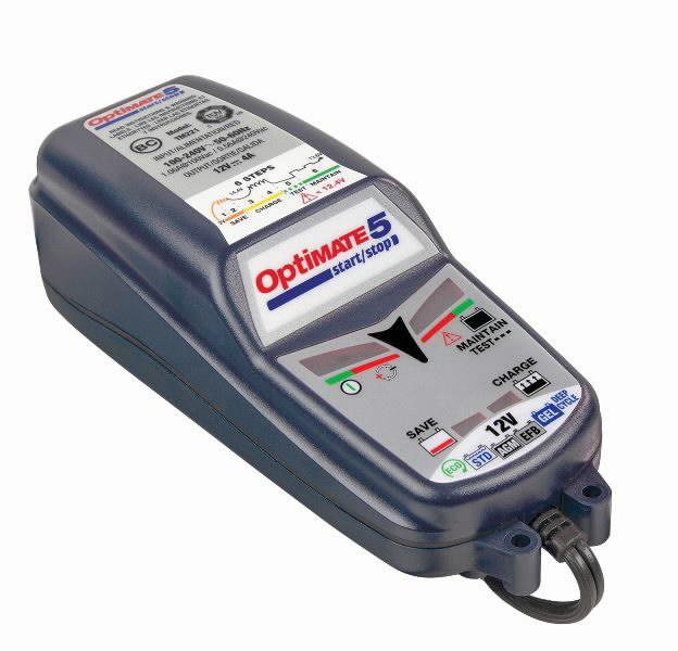 Akulaadija/säilitaja OptiMATE5, 12V 15 kuni 192 Ah akudele, TECMATE