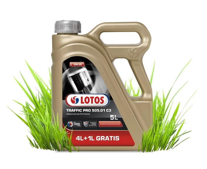 Variklių alyva TRAFFIC PRO 505.01 C3 5W30 4+1L, Lotos Oil