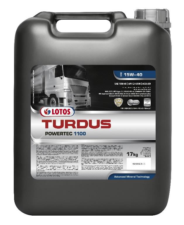 Rasketehnika õli TURDUS POWERTEC 1100 15W40 209L+2x20 FREE, Lotos Oil