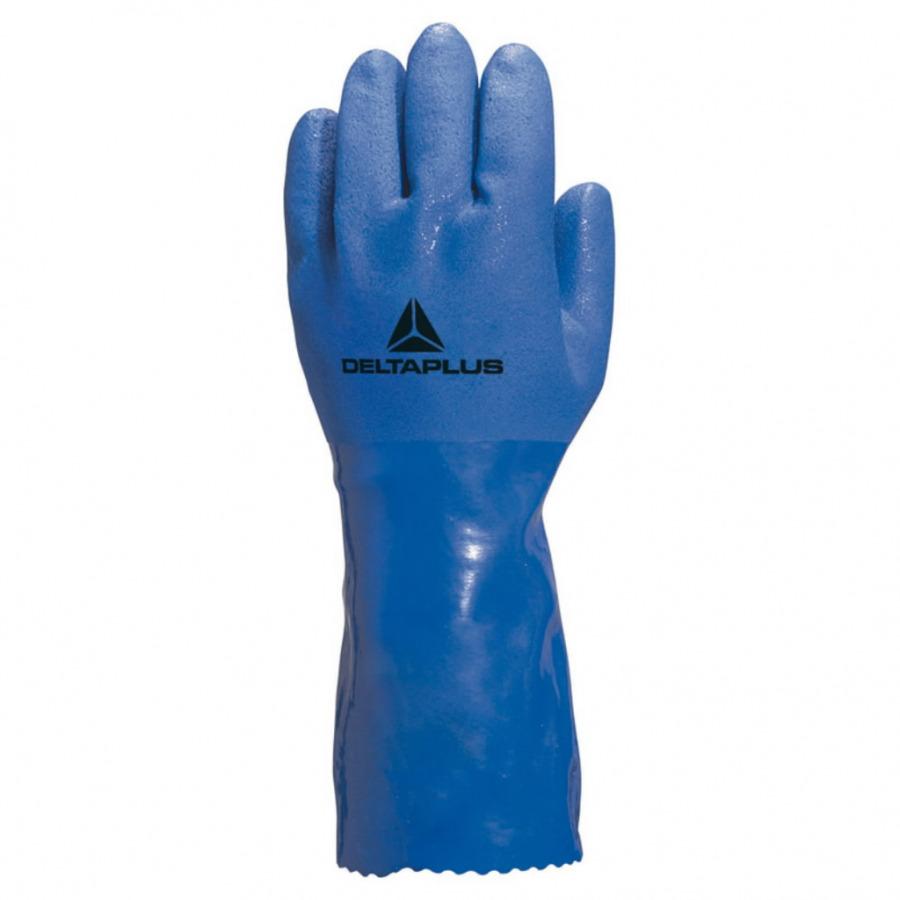 Kindad PVC-kattega nr 10, sinised, voodriga, Delta Plus