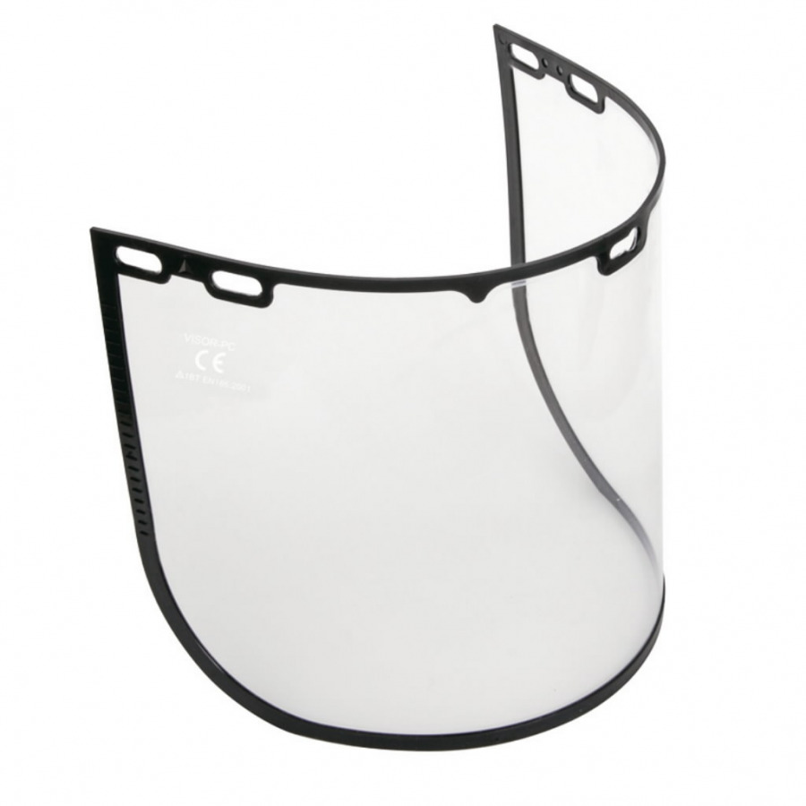 Visor clear polycarbonate 39x20cm universal fixing, Delta Plus