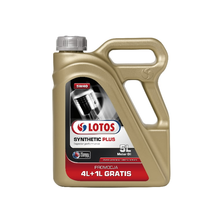 Моторное масло SYNTHETIC SN/CF PLUS 5W40, 4+1Л, LOTOS