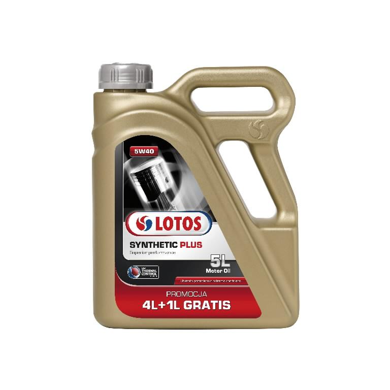 Mootoriõli SYNTHETIC PLUS 5W40 4+1L, Lotos Oil