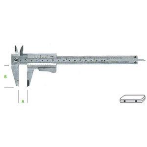 työntömitta 0-150 mm School type, Metrica