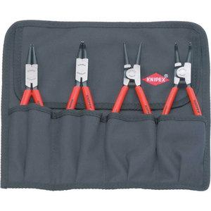 Инструмент для снятия стопорных колец, комплект 4 шт., KNIPEX