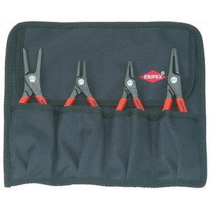 Circlip pliers set 4 pcs. J1,J2,A1,A2, precision tips, Knipex
