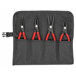 Circlip pliers 4 pcs. J2,J21,A2,A21 set, precision tips, Knipex