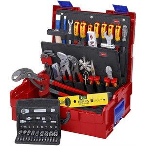 Tööriistakast L-BOXX torutööde kmpl 52 osa, Knipex