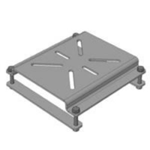 Bench vice mounting bracket for downdraft table, Plymovent