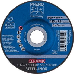 Grinding wheel SGP Ceramic STEELOX 125x7mm, Pferd