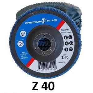 Lameļu slīpdisks 125mm Z40 PREMIUM1+, Premium1