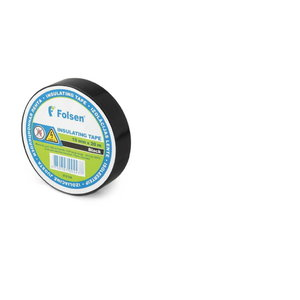 PVC-isoleerteip 19mmx20m must, Folsen