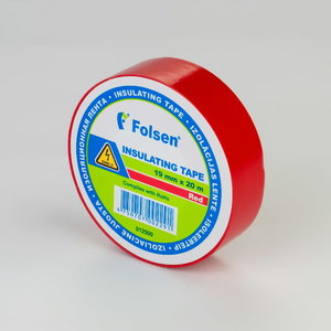 Izolācijas lenta, sarkana 19mmx20m, Folsen