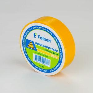 Isoleerteip kollane 19mmx20m, , Folsen
