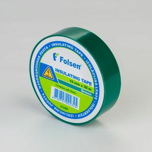 Izoliacinė juosta žalia 19mmx20m, Folsen