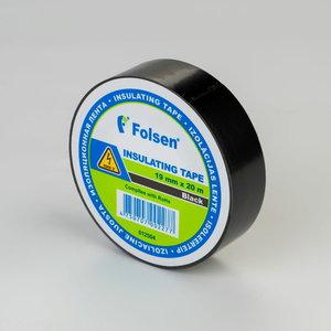 Izoliacinė juosta juoda 19mmx20m, , Folsen