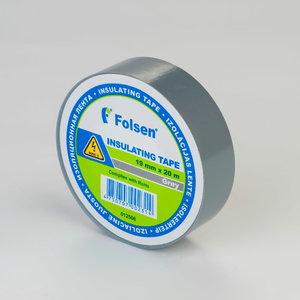 Izolācijas lente pelēka 19mmx20m, Folsen