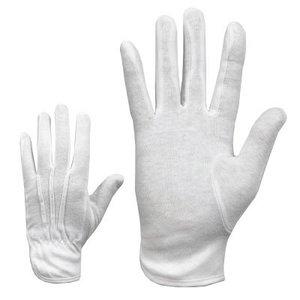 Gloves, white, cotton underglove 7