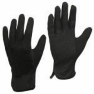 Gloves, black, cotton with PVC dots in palm, 10