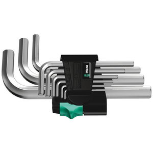 L-raktų kompl Hex 950/9SM; 1,5-10mm 9vnt., Wera