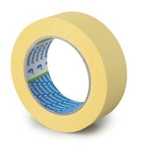Yellow masking tape 80°C 50mmx50m, , Folsen