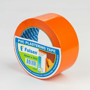 PVC plastering tape,orange 50mmx33m, Folsen