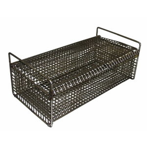 Rectangular basket for small metal parts, stainless steel, Sme