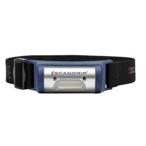 Galvas lukturis LED I-VIEW USB uzlādējama IP65 80/160lm, Scangrip