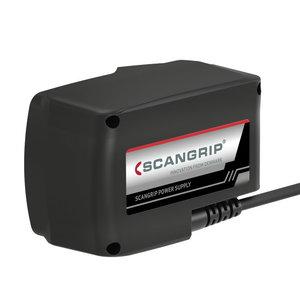 Strāvas adapteris priekš CAS akumulatora lampām, 5m vads CAS, Scangrip
