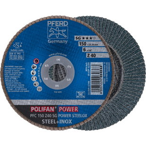 Vėduoklinis diskas 150mm Z40 SG POWER STEELOX PFC